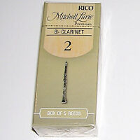 1 Box of 5 Rico Mitchell Lurie Bb Clarinet Premium Reeds Strength 2. RMLP5BCL200