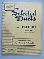 RUBANK SELECTED DUETS FOR CLARINET Volume 1 Easy to Medium - Vintage 1947