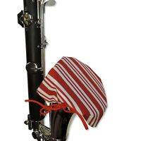 IBAM Bass Clarinet Bell Cover w/MERV-13 filter - Candy Cane Design