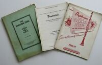 Lot- 2 Vintage CLARINET DUETS / PIANO The Invincible Folio, Orphean Collection +