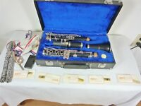 T C M CLARINET CASED PLUS EXTRA REEDS AND CLEANING ASSISTS