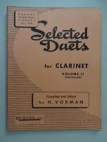 RUBANK SELECTED DUETS FOR CLARINET Volume 2 Advanced - Vintage 1947