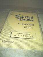 Sheet Music SELECTED DUETS FOR CLARINET VOLUME 1  6 Songs