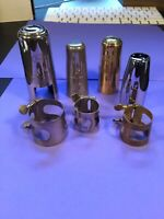 Bay, Buffet Crampon Mouthpiece Cap And Ligature Lot Misc. Sizes