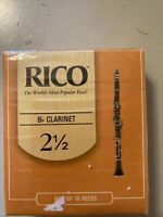 Rico by D'Addario RCA1025 Strength 2.5 Bb Clarinet Reeds - 10 Pack