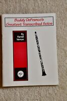 Buddy DeFranco's Greatest Transcribed Solos by Farrell Vernon
