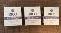 3 Boxes Rico Reserve Classic Bb Clarinet reeds 4.0
