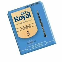 Rico Royal Bb Clarinet Reeds Strength 3  - 10 Reed Pack Made in USA
