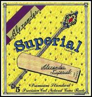 Alexander Reeds Superial Bb Clarinet Reed Strength 3 Box of 5 Made in France