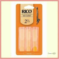 Rico Bass Clarinet 3 x Reeds, Strength 2.5 ( 2 1/2  ) 3-pack REA0325
