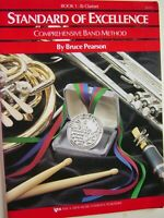 Book 1 - Bb Clarinet Standard of Excellence Comp Band Method Bruce Pearson