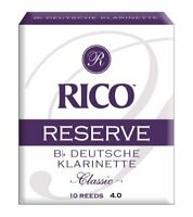 Rico Reserve Classic German Bb Clarinet Reeds Strength 4.0 10-pack