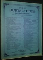 Solos Duets & Trios for Wind Instruments Bb Clarinet Sheet Music