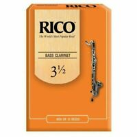 Rico Bass Clarinet Reeds Strength 3.5 10-Pack Strength 3 1/2