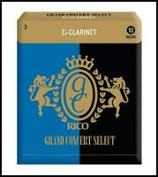 Rico Grand Concert Select Eb Clarinet Reeds, Strength 3, 10-pack