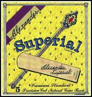 Alexander Reeds Superial Bb Clarinet Reed Strength 2 1/2 Box of 5 Made in France