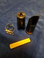 Vintage Clarinet Mouthpiece Cap and Ligature W/reed (C16-1-A)