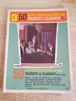 50 MOST POPULAR HITS FOR TRUMPET & CLARINET.SOLO AND DUET VINTAGE MUSIC FOLIO...