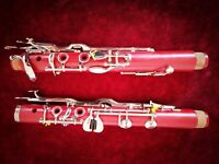 1 pcs red G key clarinet, beautiful appearance, good timbre.