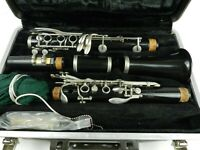 Selmer Bundy Resonate Clarinet USA Made with Custom Black Felt Lined Case
