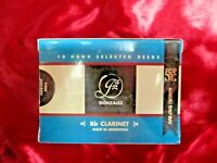 New Gonzalez F.O.F. Hand-Selected Bb Clarinet Reeds, Size 3 3/4,  Box of 10!