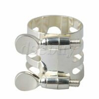 29x25mm Silver Plate Mouthpiece Ligature for B-Flat Clarinet Accessories