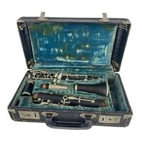 Vintage HOLTON COLLEGIATE Clarinet With Hard Case & Selmer Marching Band Lyre