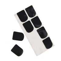 0.8mm 8x black rubber saxophone sax clarinet mouthpiece pads patches cushioYJ7H