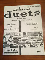 ADVANCED DUETS from Themes of Famous Composers, ALL INSTRUMENTS, Volumes 1-3