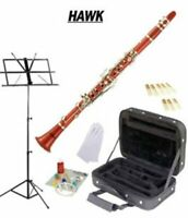 Hawk Red Bb Clarinet Package with Case, Reeds, Music Stand & Cleaning Kit