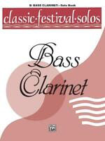 Classic Festival Solos -Bass Clarinet Vol. 1 Clarinet Learn to Play MUSIC BOOK