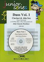 Duos Vol 1 Clarinet Alto Saxophone CD Playback MUSIC SET SCORE & PARTS with CD