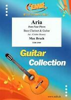 Aria Max Bruch From Four Pieces Bass Clarinet Guitar Choral MUSIC BOOK