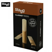 Stagg Box of 10 Bb Clarinet Reeds, 2.5 Hardness, 100% Natural #RD-CL2.5