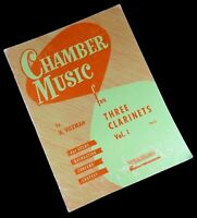 Chamber Music For Three Clarinets Vol. 1 By H. Voxman (Easy) Hal Leonard