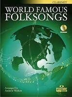 World Famous Folksongs English-German-French-Dutch Bb Clarinet MUSIC BOOK & CD