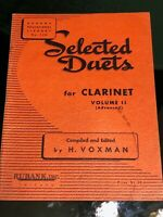 Vintage Selected Duets for Clarinet Vol. 2 Rubank Inc
