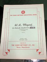 Vintage Mozart 6 Duets for 2 Clarinets Opus 70 Book 2 Cundy Bettoney