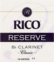 Rico RESERVE Classic Bb Clarinet Reeds - Strength 4 - FREE SHIPPING Box of 10
