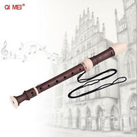 German Style Soprano Recorder 8 Holes Key of C + Cleaning Rod Carrying Bag C1F5