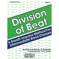 Division of Beat (D.O.B.), Book 2 (Bass Clarinet) Arranged by Rhodes, Tom