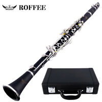 ROFFEE 706 Professional Performance Level ABS Silver Plated A Tone Clarinet
