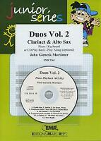 Duos Vol 2 Clarinet Alto Saxophone CD Playback MUSIC SET SCORE & PARTS with CD