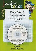 Duos Vol 3 Clarinet Alto Saxophone CD Playback MUSIC SET SCORE & PARTS with CD