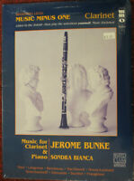 MUSIC MINUS ONE for Clarinet & Piano JEROME BUNKE Book w/ CD NEW! FREE SHIPPING!