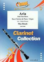 Aria Max Bruch From Four Pieces Bass Clarinet Piano or Organ MUSIC BOOK