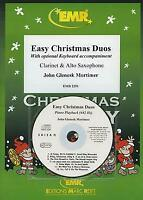 Easy Christmas Duos  Clarinet Alto SAX EMR MUSIC SET SCORE & PARTS with CD