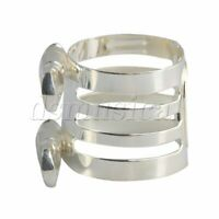 Silver B Flat Mouthpiece Ligature for Clarinet Woodwind Parts 29x25mm
