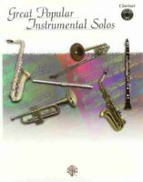 GREAT POPULAR INSTRUMENTAL SOLOS MUSIC BOOK/CD FOR CLARINET BRAND NEW ON SALE