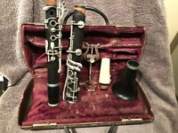 Vintage Continental Colonial Clarinet USA 132346 Imprinted
